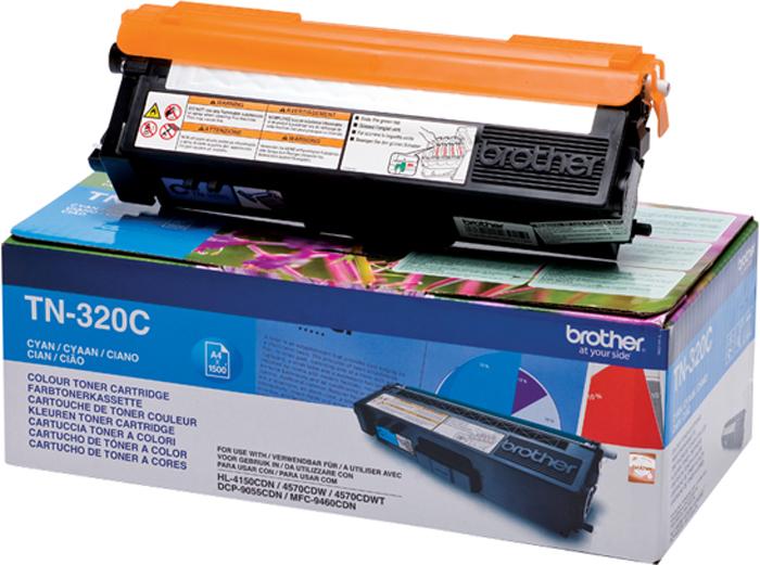 Brother TN320C, Cyan тонер-картридж для Brother HL-4150CDN/MFC-9465CDNTN320CТонер-картридж Brother TN320C голубой, для HL-4150CDN/MFC-9465CDN (1500стр)