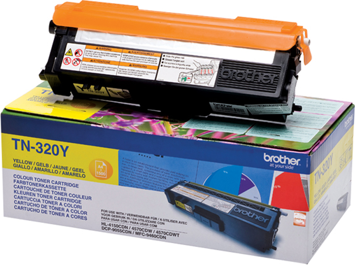 Brother TN320Y, Yellow тонер-картридж для Brother HL-4150CDN/MFC-9465CDNTN320YТонер-картридж Brother TN320Y желтый, для HL-4150CDN/MFC-9465CDN (1500стр)