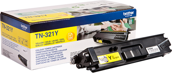Brother TN321Y, Yellow тонер-картридж для Brother HL-L8250CDN/MFC-L8650CDWTN321YТонер-картридж Brother TN321Y желтый, для HL-L8250CDN/MFC-L8650CDW (1500стр)