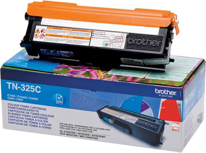 Brother TN325C, Cyan тонер-картридж для HL-4150CDN/MFC-9465CDNTN325CТонер-картридж Brother TN325C голубой, для HL-4150CDN/MFC-9465CDN (3500стр)