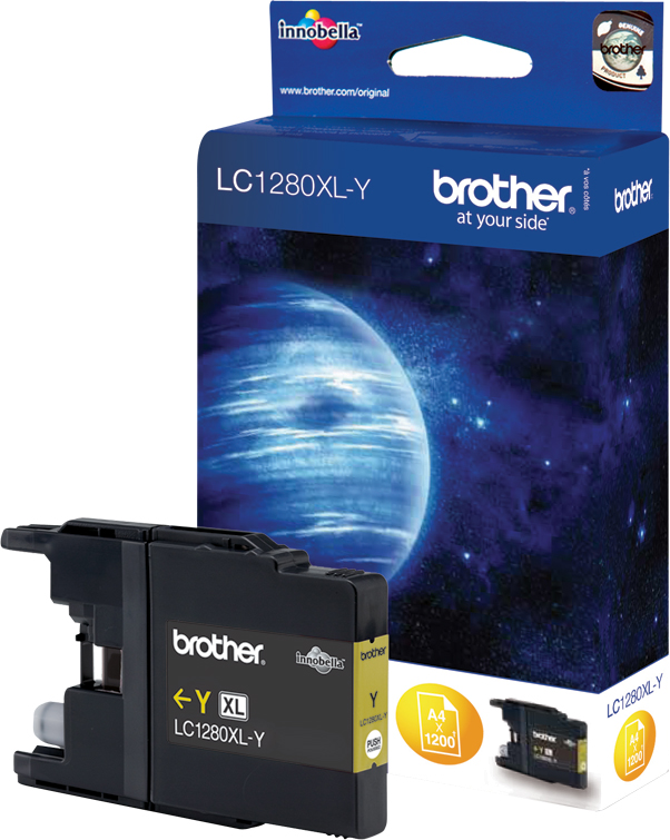 Brother LC1280XLY, Yellow струйный картридж для MFC-J6510DW, MFC-J69010DW replacement ink cartridge for brother mfc j6510dw more