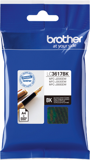 Brother LC3617BK, Black картридж для Brother MFC-J3530DW/J3930DWLC3617BKКартридж струйный Brother LC3617BK черный для MFC-J3530DW/J3930DW черный 550стр