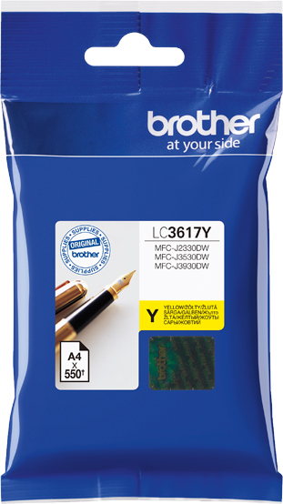 Brother LC3617Y, Yellow картридж для Brother MFC-J3530DW/J3930DW картридж brother lc3617y 550 стр