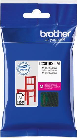 Brother LC3619XLM, Magenta картридж для Brother MFC-J3530DW/J3930DWLC3619XLMКартридж струйный Brother LC3619XLM для MFC-J3530DW/J3930DW пурпурный 1500стр