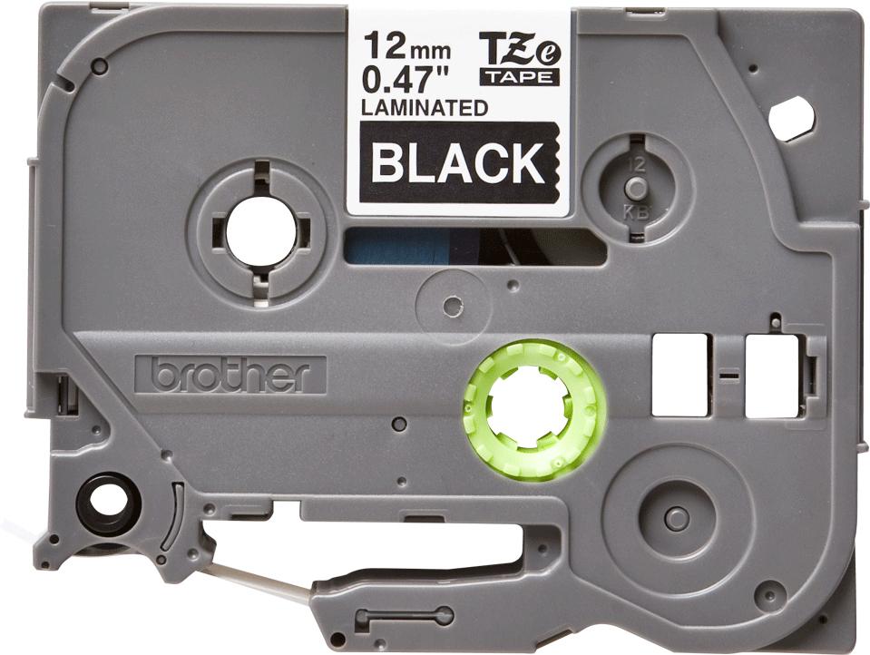 Brother TZE335, Black White лента для матричного принтера 12 ммTZE335Лента Brother TZE335 12мм белый на черном