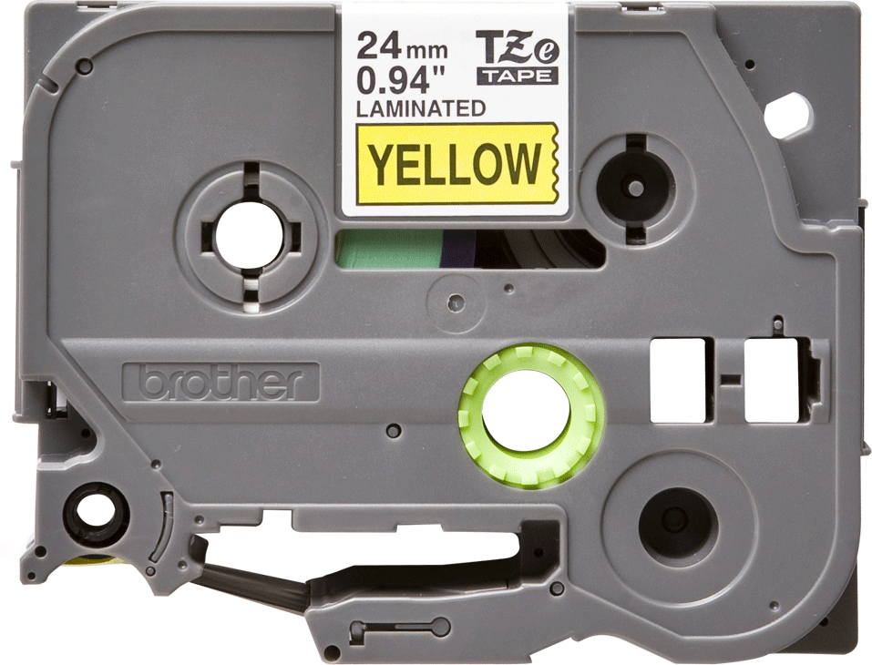 Brother TZE651, Yelllow Black лента для матричного принтера 24 ммTZE651Лента Brother TZE651 24мм черный на желтом