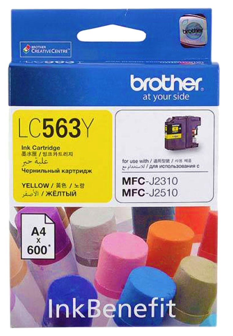 все цены на Brother LC563Y, Yellow картридж для Brother MFC-J2310, MFC-J2510, MFC-J3520, MFC-J3720