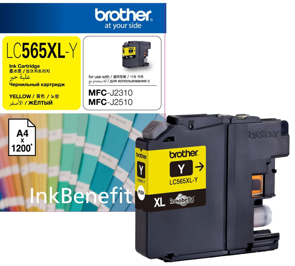 Brother LC565XLY, Yellow картридж для Brother MFC-J2310, MFC-J2510, MFC-J3520, MFC-J3720 printhead 990 a3 print head for brother mfc 5890c mfc 6490cw 6490dw mfc 6690c