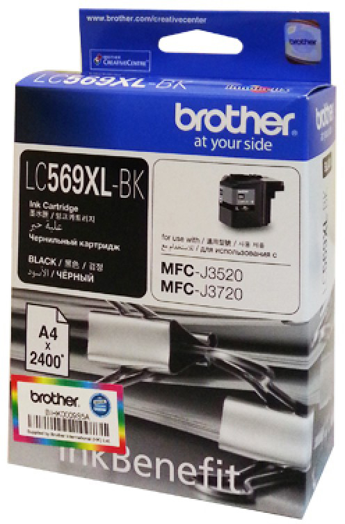 Brother LC569XLBK, Black картридж для Brother MFC-J3520/MFC-J3720 картридж brother lc569xlbk черный