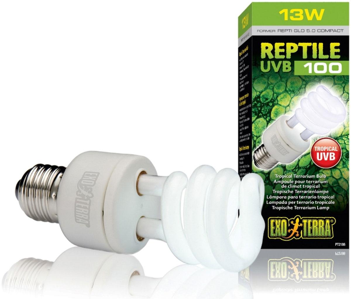 Лампа Exo Terra Repti Glo 5.0 Compact, 13 Вт лампа repti zoo repti infrared 50вт инфракрасная r63050