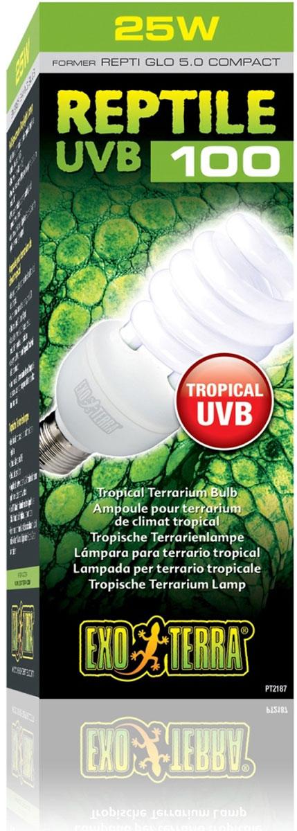 Лампа Exo Terra Repti Glo 5.0 Compact , 26 ВтPT-2187Лампа Repti Glo5.0 Compact 26 Вт Идеально подходит для всех тропических и субтропических рептилийЭффективна до 40 см (15 дюймов) Обеспечивает необходимые лучи UVB для оптимального метаболизма кальция Лучи UVA стимулируют аппетит, активность и репродуктивное поведение Комбинируйте с естественным светом или видением рептилий для оптимального светового потока