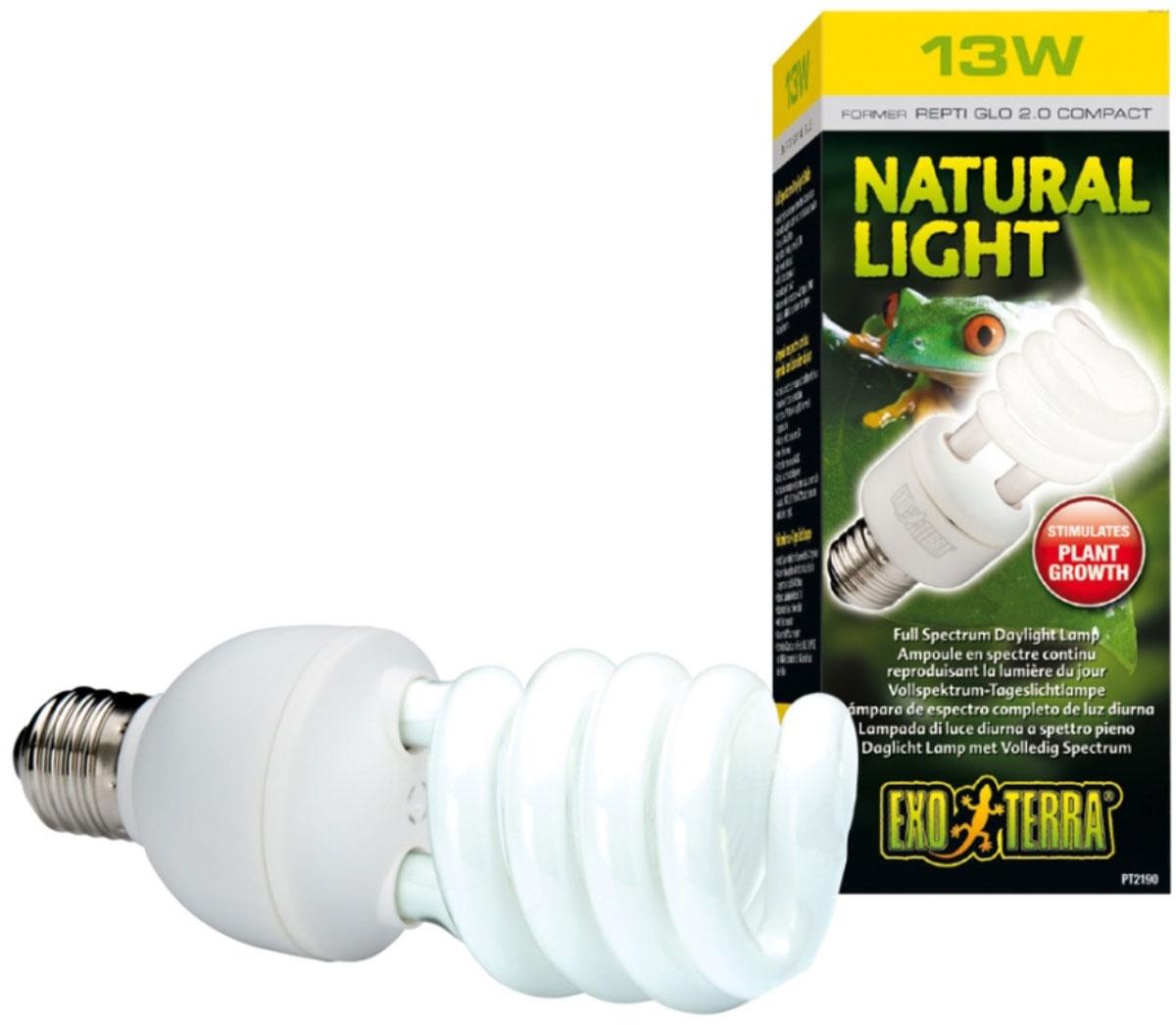 Лампа Exo Terra Лампа Repti Glo 2.0 Compact, 13 ВтPT-2190Лампа Repti Glo 2.0 Compact 13 Вт