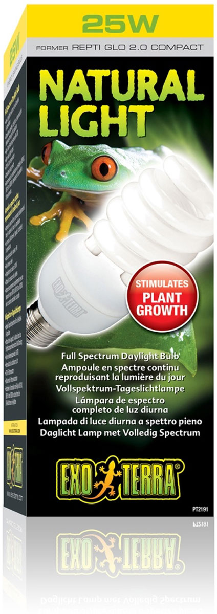 Лампа Exo Terra Лампа Repti Glo 2.0 Compact, 26 ВтPT-2191Лампа Repti Glo 2.0 Compact 26 Вт
