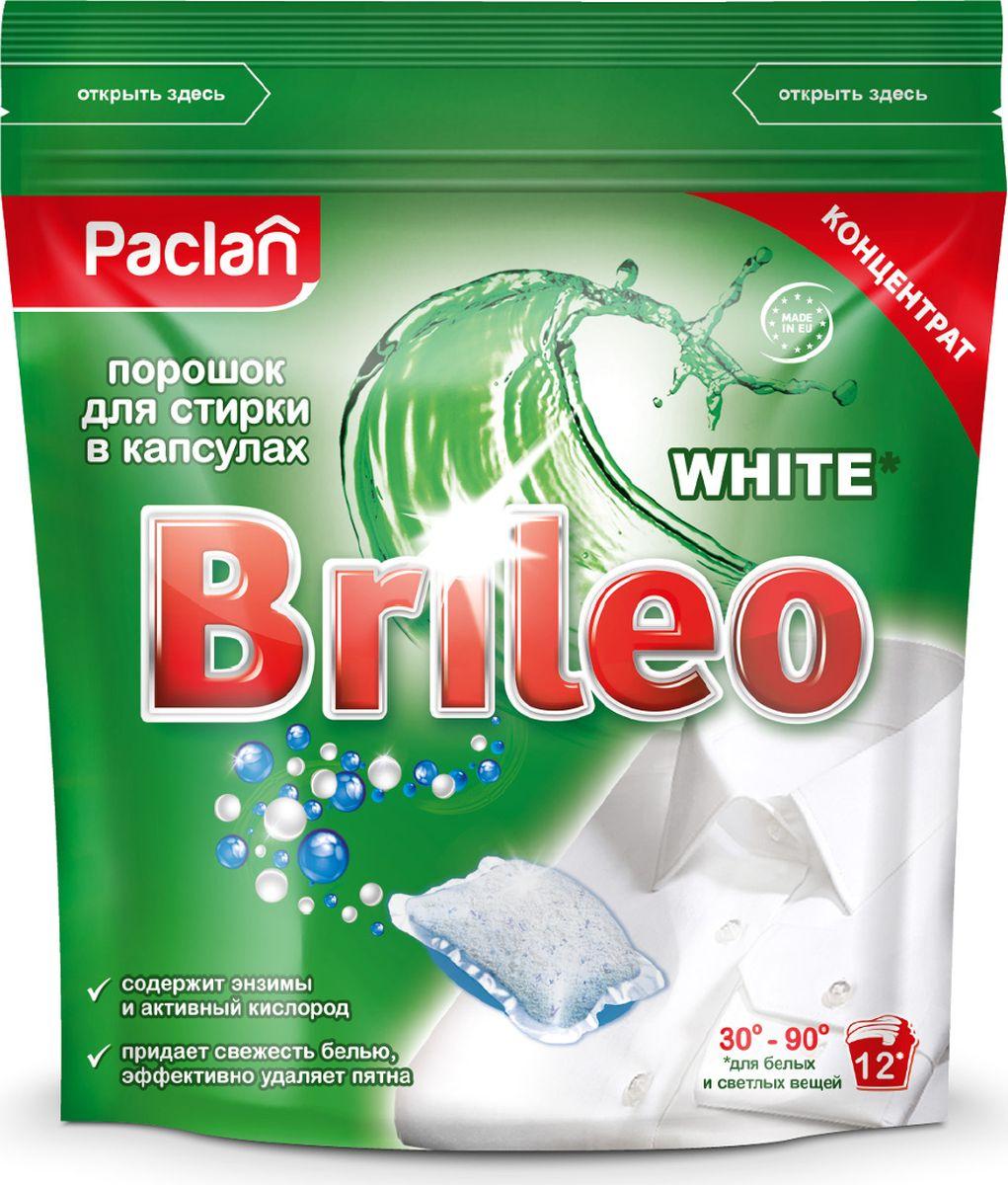 Порошок стиральный Paclan White, для белого белья, концентрат, в капсулах, 12 шт440100Пять энзимов в составе инновационной формулы отлично отстирывают загрязнения. Кислородный отбеливатель придает кристальную белизну. Пятновыводитель эффективно удаляет любые пятна. Отлично отстирывает даже при 30°С. Придает вещам приятный аромат.