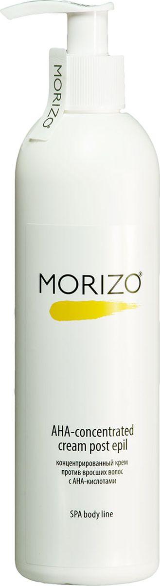 Morizo Крем-концентрат от вросших волос с AHA кислотами, 300 мл109040Способствуют эффективному отшелушиванию ороговевших клеток кожи, активно увлажняют, оказывают выраженный противовоспалительный эффект. Дарит ощущение продолжительной гладкости, увлажненности и комфорта. Предназначен для ежедневного ухода за кожей между процедурами депиляции, для профилактики врастания волос. Крем подходит для всех типов кожи.