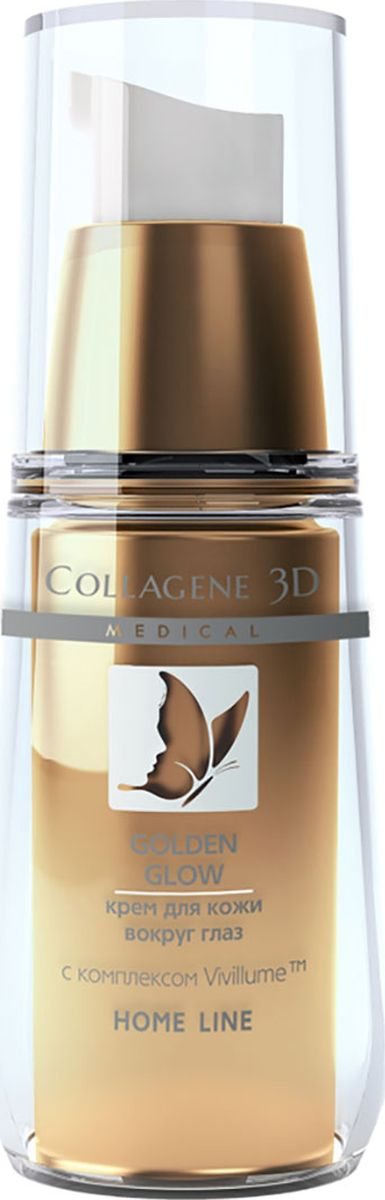 Medical Collagene, 3D Крем вокруг глаз Golden Glow, 15 мл medical collagene 3d крем для лица golden glow 30 мл