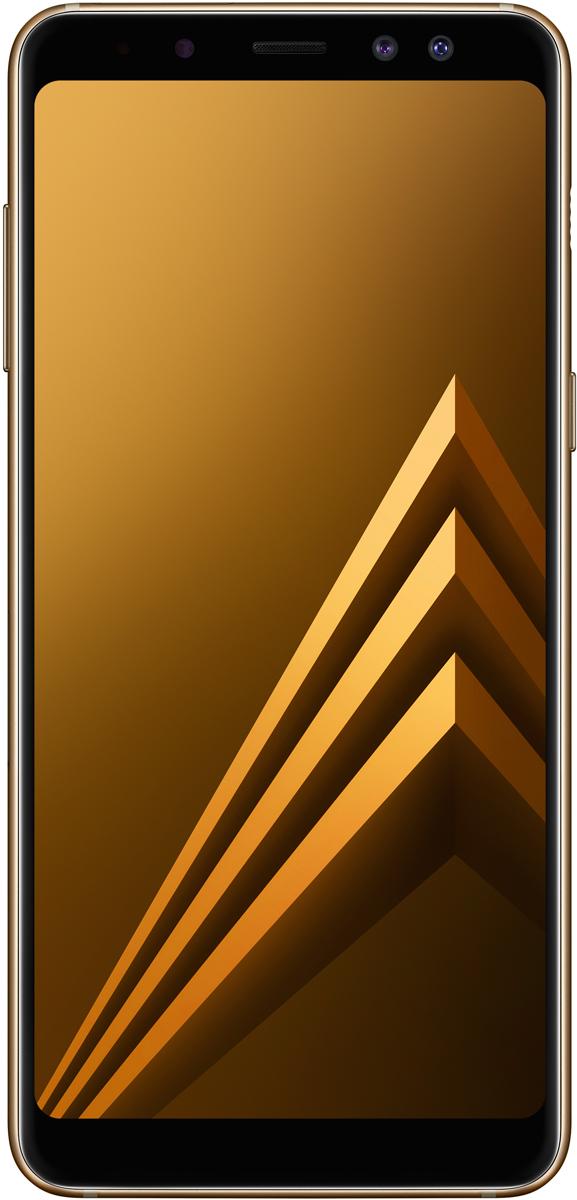 Samsung Galaxy A8 (SM-A530F), GoldSM-A530FZDDSERGalaxy A8 расширяет границы увиденного. Большой и красочный безграничный экран занимает всю переднюю поверхность смартфона от края до края.Что бы ты ни предпочитал - классику или современность - среди цветов корпуса Galaxy A8 обязательно найдется тот, что тебе подойдет. А благодаря гладким скругленным краям этот эргономичный смартфон не хочется выпускать из рук.Безграничный экран с соотношением сторон 18,5:9 позволяет максимально погрузиться в любимый фильм, создавая ощущение, будто ты смотришь его в кинотеатре. Это самый большой экран в истории модельного ряда Galaxy A.Безграничный экран больше в высоту, чем экран предыдущей модели, поэтому ты сможешь меньше прокручивать текст во время чтения и серфинга в интернете. Просматривая социальные сети и новостные статьи, ты увидишь на экране больше информации за один раз.Чтобы снять уникальный кадр, достаточно всего лишь коснуться значка затвора на Galaxy A8. С помощью двойной фронтальной камеры ты сможешь быстро делать отличные селфи и групповые снимки с фокусом на тебе и твоих друзьях. Основная камера 16 МП запечатлит эти моменты в невероятно детализированных и ярких снимках.Добавь настроения и выразительности своим селфи с функцией Живой фокус. Живой фокус позволяет настроить размытие фона в процессе фотографирования или уже на готовом снимке, фокусируясь на тебе и твоих друзьях. А если включить функцию ретуши, перед тем как снимать селфи, результат выйдет просто потрясающим.Редактируй фотографии, добавляя стикеры и фильтры. Ты можешь украсить селфи забавными стикерами с использованием технологии распознавания лиц. А также включить режим съемки еды, функцию ретуши и фильтры еще до того, как начнешь снимать. Функция ретуши работает и при съемке видео на фронтальную камеру, так что даже в роликах ты будешь выглядеть отлично.Теперь можно фотографировать ночью или в темноте - у тебя получатся идеальные кадры благодаря основной камере Galaxy A8, способной снимать при слабом ос