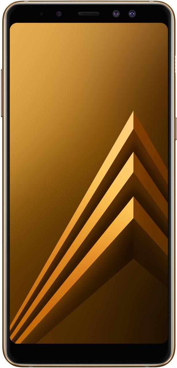 Samsung Galaxy A8+ (SM-A730F), GoldSM-A730FZDDSERGalaxy A8+ расширяет границы увиденного. Большой и красочный безграничный экран занимает всю переднюю поверхность смартфона от края до края.Чтобы снять уникальный кадр, достаточно всего лишь коснуться значка затвора на Galaxy A8+. С помощью двойной фронтальной камеры ты сможешь быстро делать отличные селфи и групповые снимки с фокусом на тебе и твоих друзьях. Основная камера 16 МП запечатлит эти моменты в невероятно детализированных и ярких снимках.Добавь настроения и выразительности своим селфи с функцией Живой фокус. Живой фокус позволяет настроить размытие фона в процессе фотографирования или уже на готовом снимке, фокусируясь на тебе и твоих друзьях. А если включить функцию ретуши, перед тем как снимать селфи, результат выйдет просто потрясающим.Редактируй фотографии, добавляя стикеры и фильтры. Ты можешь украсить селфи забавными стикерами с использованием технологии распознавания лиц. А также включить режим съемки еды, функцию ретуши и фильтры еще до того, как начнешь снимать. Функция ретуши работает и при съемке видео на фронтальную камеру, так что даже в роликах ты будешь выглядеть отлично.Теперь можно фотографировать ночью или в темноте - у тебя получатся идеальные кадры благодаря основной камере Galaxy A8+, способной снимать при слабом освещении. Объектив со светосилой F1.7, более крупные пиксели размером 1.12 мкм и матрица 1/2,8 дюйма захватывают больше света, делая фотографии четкими и детализированными.Безграничный экран с соотношением сторон 18,5:9 позволяет максимально погрузиться в любимый фильм, создавая ощущение, будто ты смотришь его в кинотеатре. Это самый большой экран в истории модельного ряда Galaxy A.Безграничный экран больше в высоту, чем экран предыдущей модели, поэтому ты сможешь меньше прокручивать текст во время чтения и серфинга в интернете. Просматривая социальные сети и новостные статьи, ты увидишь на экране больше информации за один раз.Этот смартфон будет работать везде, где бы ты ни о