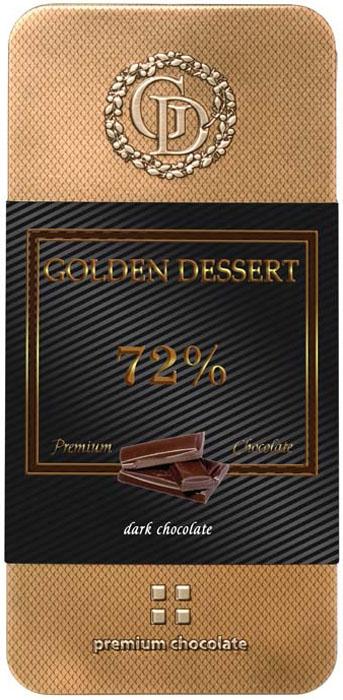 Golden Dessert классический горький шоколад 72% какао-продуктов, 100 г golden dessert молочный шоколад с кранчами малины и леденцовой карамелью 100 г