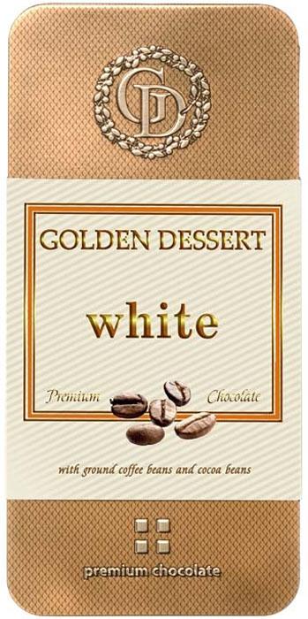 Golden Dessert белый шоколад с молотыми кофейными зернами и какао-бобами, 100 г weider 32% protein bar белый шоколад 60г
