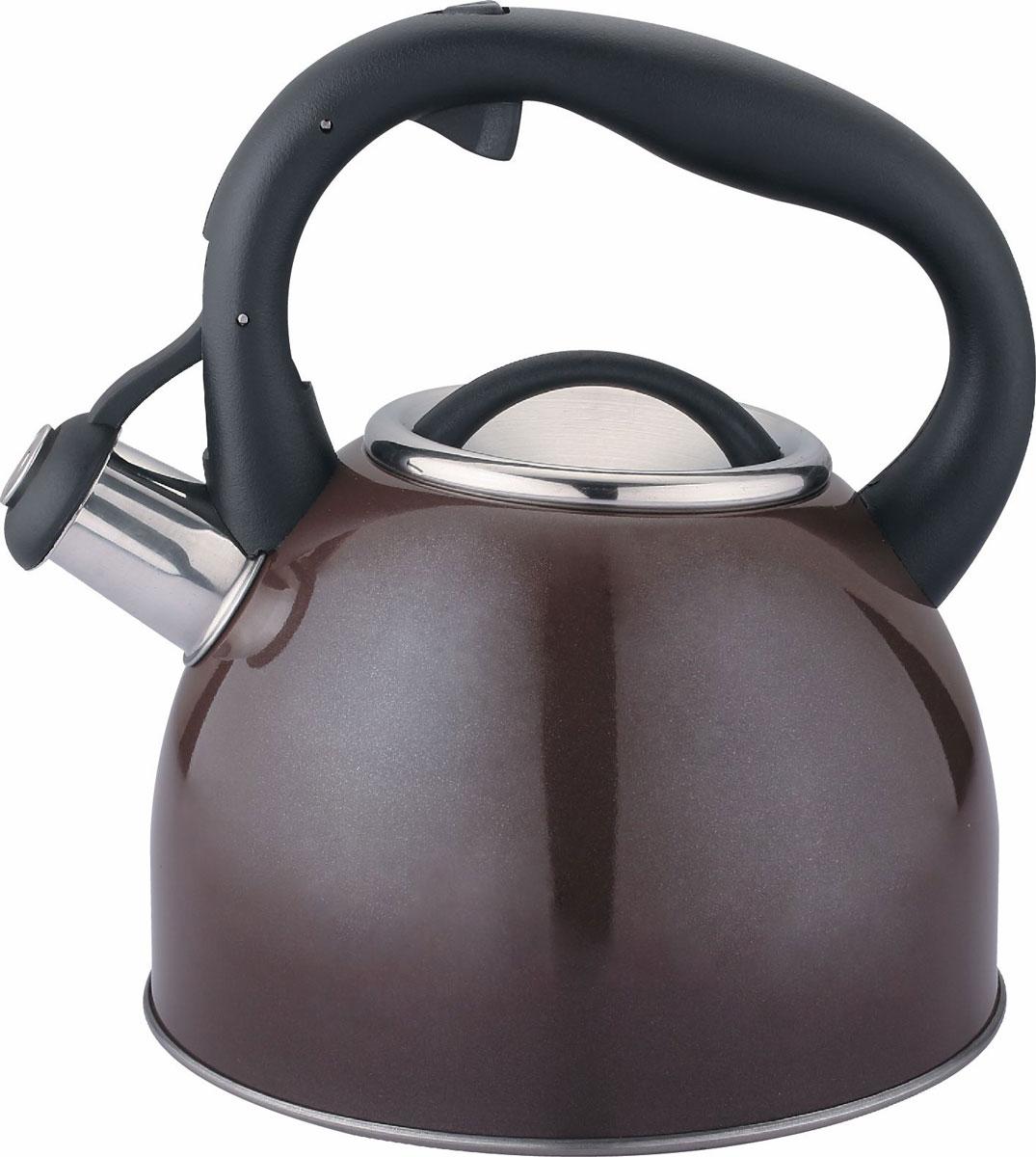 Чайник Cs-Kochsysteme Bonn, со свистком, цвет: коричневый, 2,5 л чайник cs kochsysteme bonn со свистком цвет медь 2 5 л