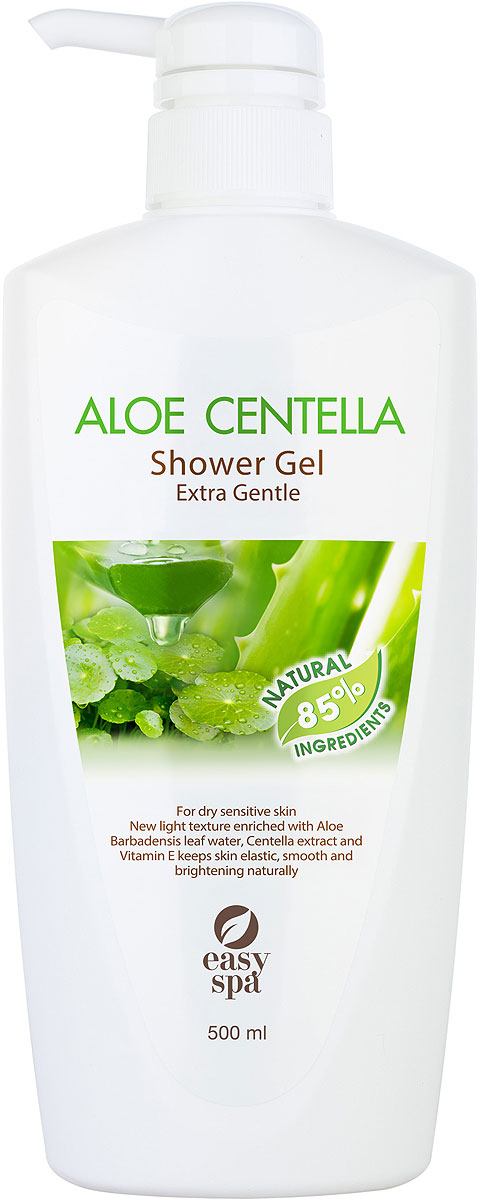 Easy Spa Гель для душа для чувствительной кожи Aloe Centella, 500 мл гель sea of spa aloe vera gel 180 мл