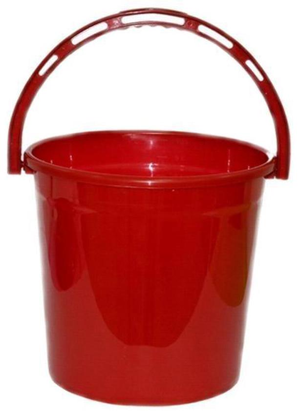 Ведро хозяйственное Violet Рубин, цвет: красный, 10 л ведро хозяйственное violet красные маки цвет белый красный 12 л