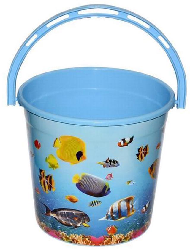 Ведро хозяйственное Violet Океан, цвет: голубой, 10 л011079Ведро Violet изготовлено из экологически чистого пластика. Изделие оснащено удобной аргономичной ручкой. Внутри ведра имеется мерное деление. Ведро Violet не имеет запаха и безопасно для воды и продуктов.
