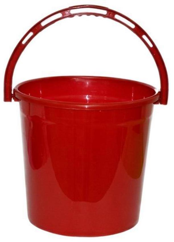 Ведро хозяйственное Violet Рубин, цвет: красный, 12 л ведро хозяйственное violet красные маки цвет белый красный 12 л