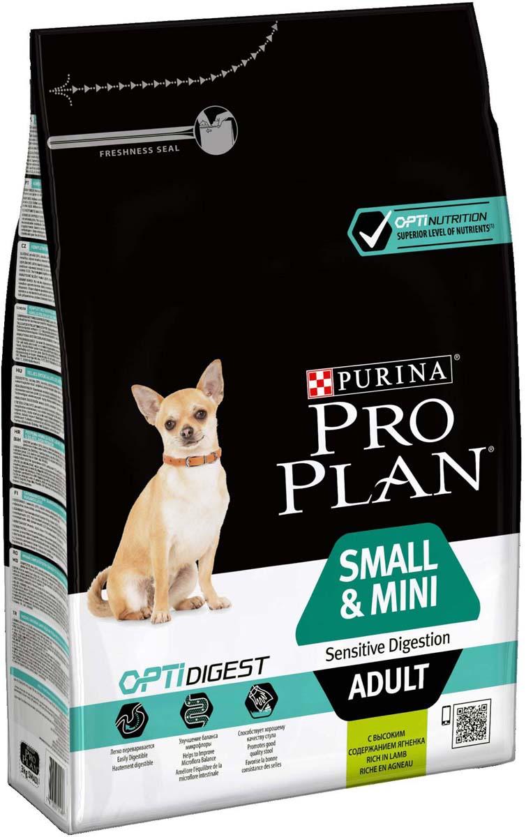 Корм сухой Pro Plan Optidigest для собак мелких и карликовых пород с чувствительным пищеварением, с ягненком и рисом, 3 кг12278062Взрослые собаки, которые весят менее 10 кг, обычно полны энергии и часто имеют ускоренный обмен веществ. Корм Pro Plan Optidigest содержит большое количество белков и жиров для поддержания оптимального телосложения и обеспечения нужного уровня энергии. Корм разработан специально для собак мелких пород и представляет собой сбалансированное питание, которое помогает укрепить иммунную систему. Также корм содержит витамины Е и С для поддержания естественных защитных сил организма.Состав: сухой белок птицы, кукуруза, пшеница, ягненок (14%), глютен, животный жир, рис (4%), сухая мякоть свеклы, продукты переработки растительного сырья, минеральные вещества, кукурузная мука, сушеный корень цикория (1%, источник пребиотиков), яичный порошок, вкусоароматическая кормовая добавка, рыбий жир, витамины, антиоксиданты. Добавленные вещества: витамин A: 28 000 МЕ/кг; витамин D3: 910 МЕ/кг; витамин Е: 590 мг/кг; витамин С: 240 МЕ/кг; сульфат железа: 170 МЕ/кг; йодат кальция: 2,8 МЕ/кг; сульфат меди: 40 МЕ/кг; сульфат марганца: 40 МЕ/кг; сульфат цинка: 365 МЕ/кг; селенит натрия: 0,26 МЕ/кг.Гарантируемые показатели: белок 27%, жир 17%, сырая зола 7,5%, клетчатка 3%.Товар сертифицирован.Расстройства пищеварения у собак: кто виноват и что делать. Статья OZON Гид