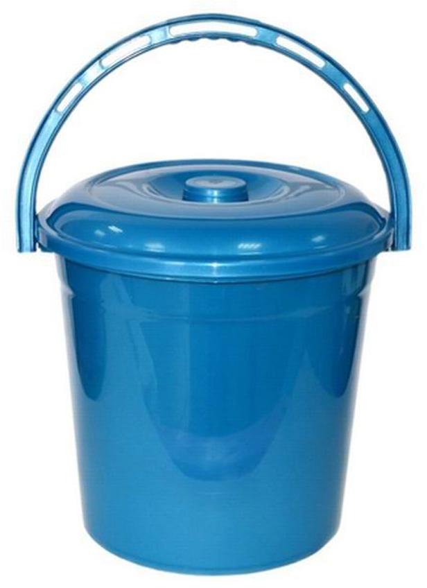 Ведро хозяйственное Violet Сапфир, с крышкой, цвет: синий, 10 л ведро хозяйственное violet рубин цвет красный 10 л