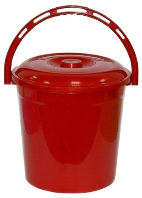 Ведро хозяйственное Violet Рубин, с крышкой, цвет: красный, 12 л021279Ведро Violet изготовлено из экологически чистого пластика. Изделие оснащено удобной аргономичной ручкой. Внутри ведра имеется мерное деление. Ведро Violet не имеет запаха и безопасно для воды и продуктов.