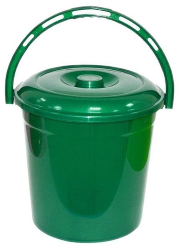Ведро хозяйственное Violet Изумруд, с крышкой, цвет: зеленый, 12 л021202Ведро Violet изготовлено из экологически чистого пластика. Изделие оснащено удобной аргономичной ручкой. Внутри ведра имеется мерное деление. Ведро Violet не имеет запаха и безопасно для воды и продуктов.