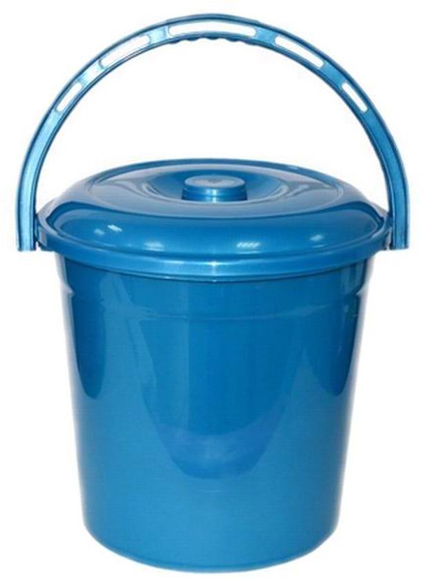 Ведро хозяйственное Violet Сапфир, с крышкой, цвет: синий, 12 л021203Ведро Violet изготовлено из экологически чистого пластика. Изделие оснащено удобной аргономичной ручкой. Внутри ведра имеется мерное деление. Ведро Violet не имеет запаха и безопасно для воды и продуктов.