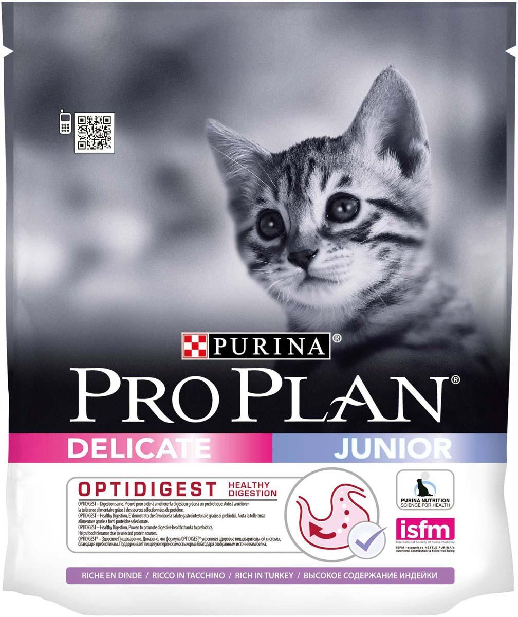 Корм сухой Pro Plan Junior Delicate, для котят с чувствительным пищеварением, с индейкой, 400 г12293287Корм сухой Pro Plan Junior Delicate, для котят с чувствительным пищеварением - корм с высоким содержанием белка, сочетающий все необходимые питательные вещества, включая витамины С и Д3, а также омега-3жирную кислоту. Легко усвояемый корм для котят с чувствительным пищеварением.Обладает замечательными вкусовыми свойствами и придется по вкусу даже самым капризным котятам.Состав: индейка (17%), кукурузный глютен, рис (17%), концентрат горохового белка, сухой белок индейки, животный жир, кукурузный крахмал, сухой корень цикория (2%), кукуруза, минеральные вещества, вкусоароматическая кормовая добавка, дрожжи, рыбий жир, витамины, антиоксиданты. Добавленные вещества: МЕ/кг: витамин A: 32 600; витамин Д3: 1 060; витамин E: 670.мг/кг: витамин C: 140; железо: 73; йод: 1,8; медь: 11,5; марганец: 34; цинк: 138; селен: 0,12.Товар сертифицирован.