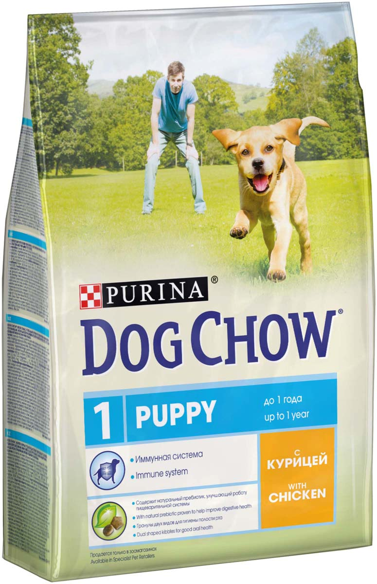 Корм сухой Dog Chow Puppy для щенков до 1 года, с курицей, 2,5 кг сухой корм dog chow puppy small breed with chicken с курицей для щенков мелких пород 2 5кг 12308764
