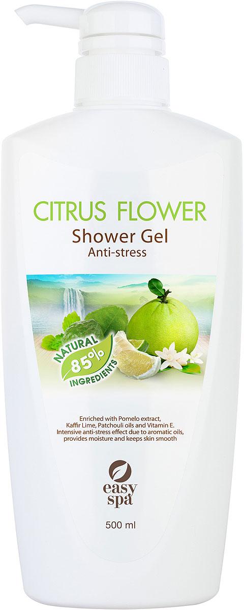 Easy Spa Гель для душа антистресс Citrus Flower, 500 мл61456Гель для душа-антистресс с экстрактом помело, витамином Е, маслами каффир-лайма и пачули. Бережно очищает кожу, прекрасно пенится , легко смывается, обладает тонизирующим эффектом, защищает кожу от вредного воздействия окружающей среды, дарит заряд бодрости и энергии вашей коже.