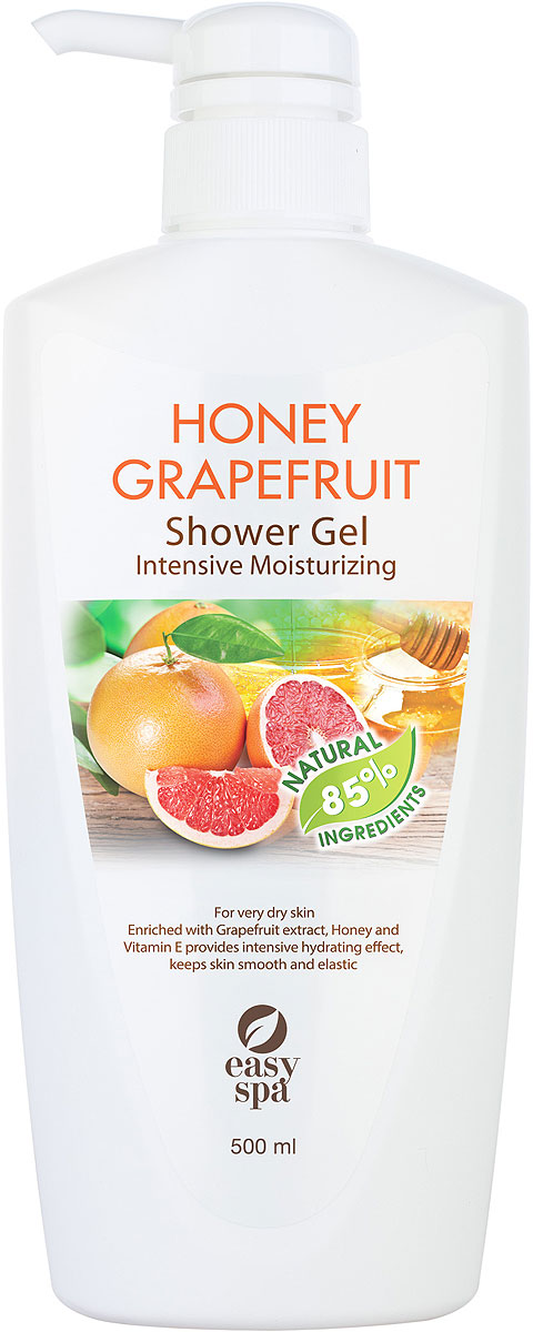 Easy Spa Гель для душа для сухой кожи Honey Grapefruit, 500 мл lx spa pool heater h30 rsi spa heizung 3kw easy to install