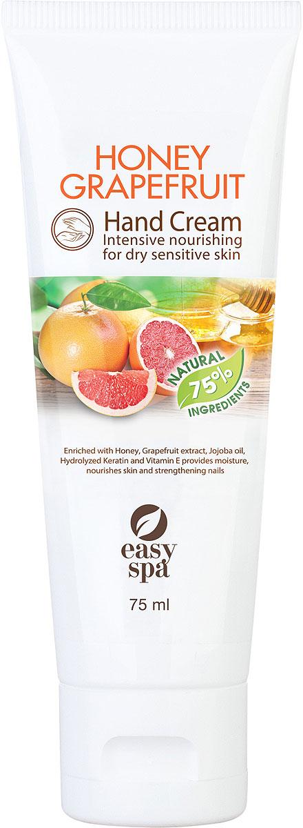 Easy Spa Крем для рук питательный Honey Grapefruit, 75 мл62756Крем для рук питательный с медом, экстрактом грейпфрута, с маслом жожоба, витамином Е и гидролизованным кератином.Питательная формула крема быстро впитывается. Входящие в состав мед и экстракт грейпфрута увлажняют кожу рук, делая ее более мягкой. Масло жожоба, витамин Е защищают кожу от сухости и от вредного воздействия окружающей среды. Гидролизованный кератин обеспечивает интенсивное питание кожи рук, ухаживает за кутикулой, укрепляет ногти.