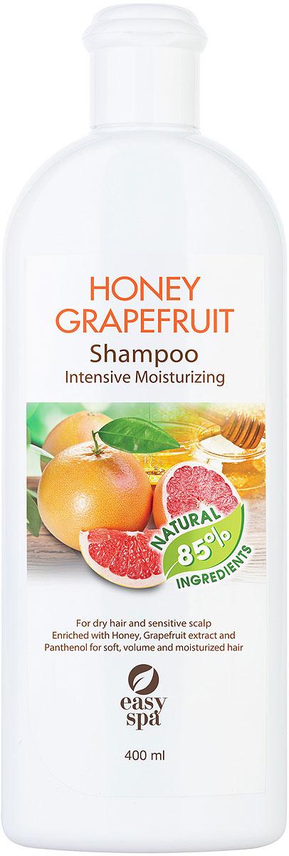 Easy Spa Шампунь для cухих волос и чувствительной кожи головы Honey Grapefruit, 400 мл62356Шампунь для сухих волос и чувствительной кожи головы с медом, экстрактом грейпфрута и пантенолом. Мягкая формула шампуня с медом, экстрактом грейпфрута и пантенолом интенсивно увлажняет кожу головы и способствует улучшению микроциркуляции. Делает волосы сильными, блестящими и шелковистыми, придает им объем и защищает от сухости.