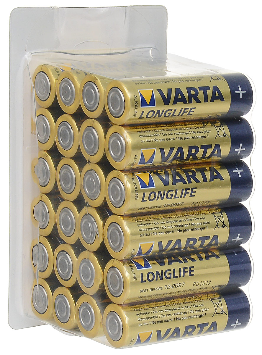 Батарейки Varta Longlife, тип AA, 24 шт varta longlife aa big box 24