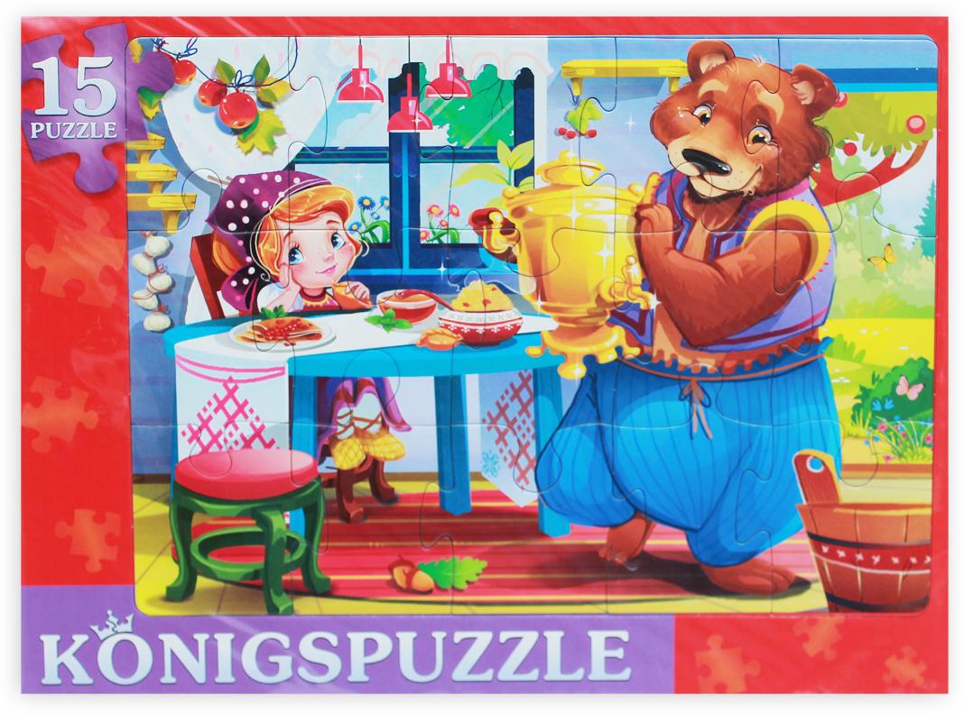 Konigspuzzle Пазл-рамка для малышей Маша и медведь-1 пазл konigspuzzle 1000 эл 68 5 48 5см яркая набережная и лодки алк1000 6483