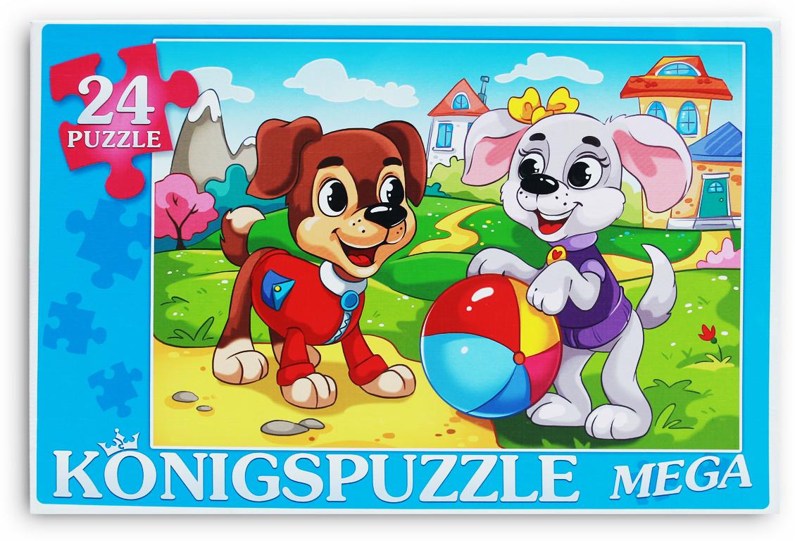 Konigspuzzle Мега-пазл для малышей Щенки на лужайке