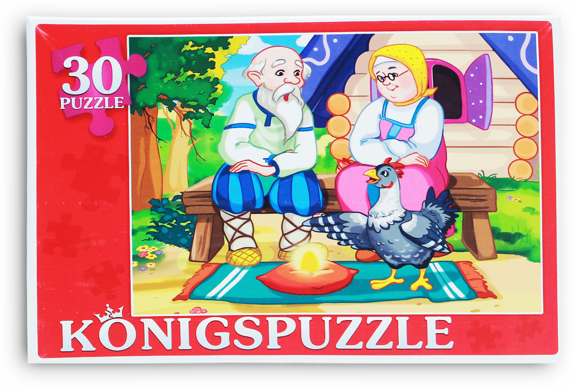 Konigspuzzle Пазл для малышей Курочка ряба
