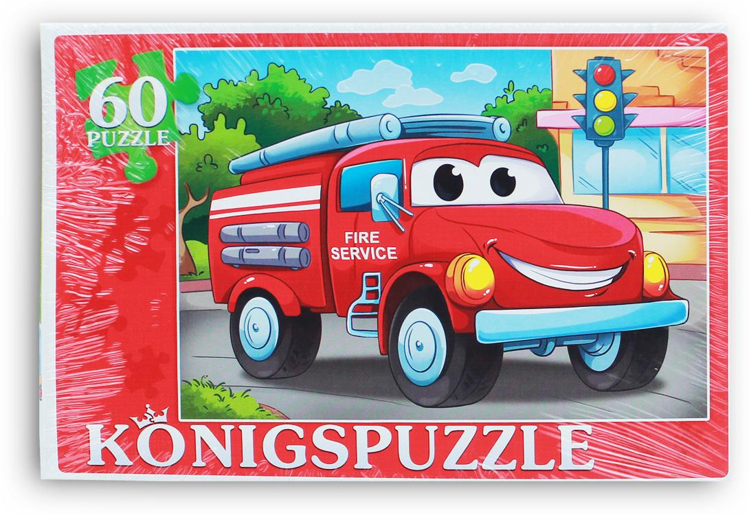 Konigspuzzle Пазл Пожарная машина