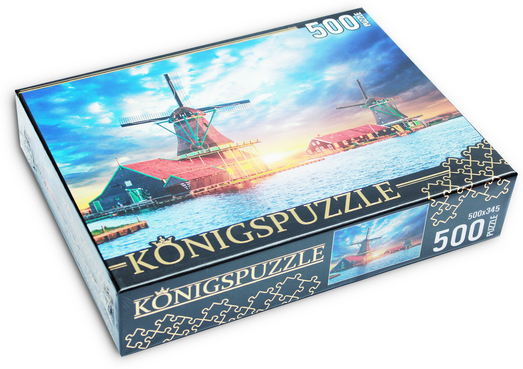 Konigspuzzle Нидерланды Пазл Музей мельниц