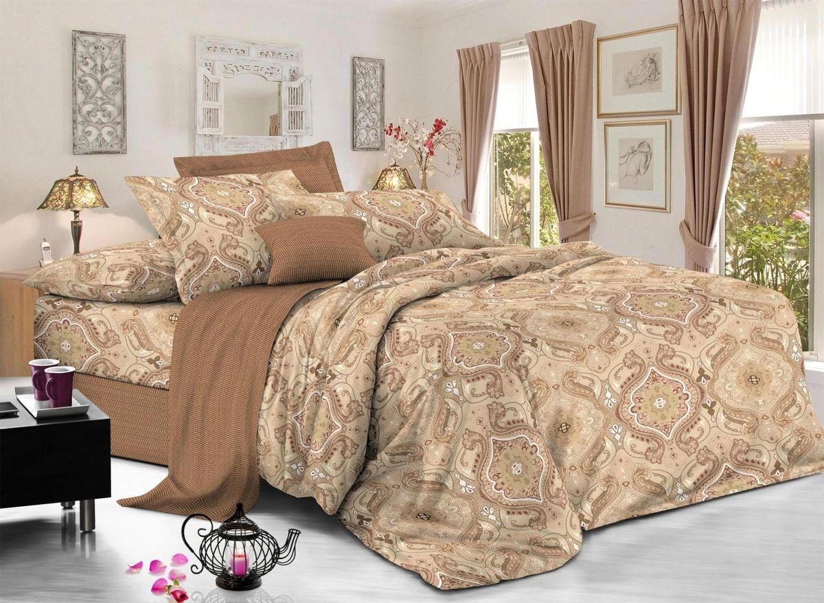 Комплект белья Soft Line, 2-х спальное, наволочки 50x70, цвет: бежевый. 6059