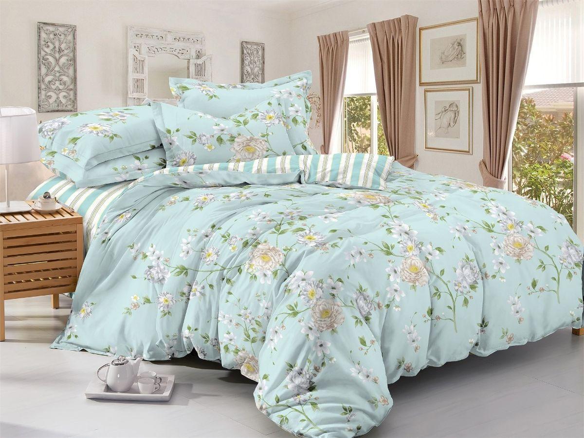 Комплект белья Soft Line, 2-х спальное, наволочки 50x70, цвет: мультиколор. 6097718701Постельное белье SL из сатина с декоративной отделкой