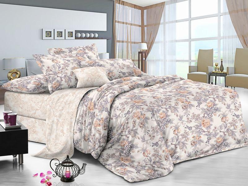 Комплект белья Soft Line, 2-х спальное, наволочки 50x70, цвет: мультиколор. 6113 комплект белья soft line 2 х спальный наволочки 50x70 06121
