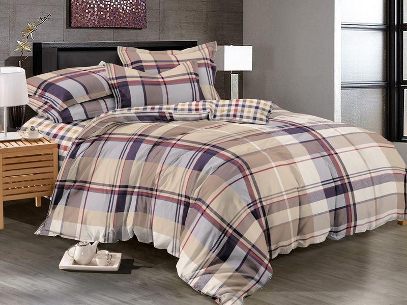 Комплект белья Soft Line, 2-х спальное, наволочки 50x70, цвет: мультиколор. 61176117Постельное белье SL из сатина с декоративной отделкой